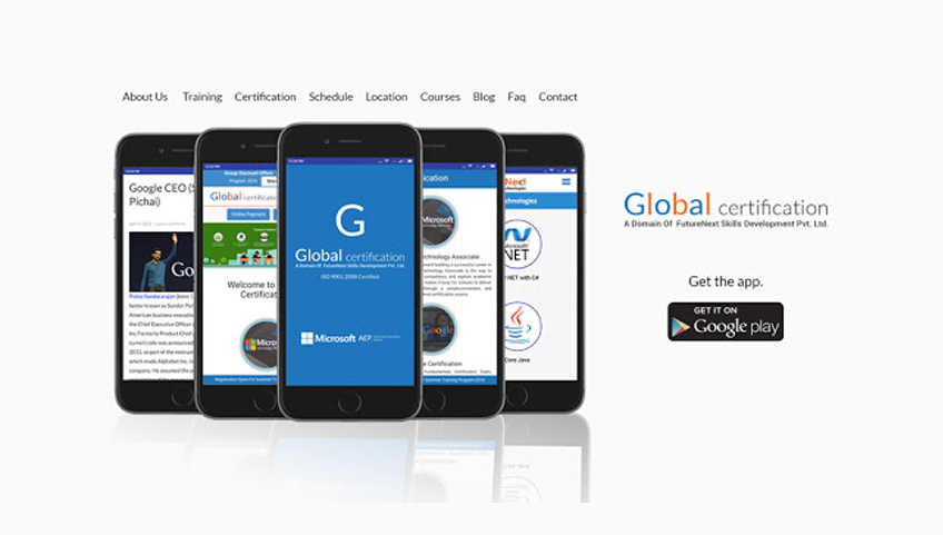 Global certification - Android Apps on Google Play Store.